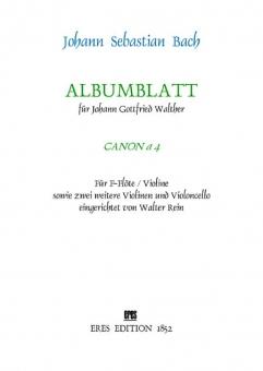 Albumblatt (Canon a 4) Streicher